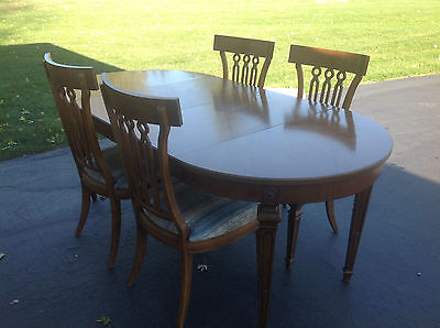 Vintage Thomasville Maple Dining Table And 4 Chairs, 1970's, Great Condition