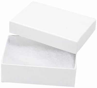 White Swirl Cotton Filled Jewelry Box #11 (Pack of 100)