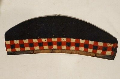WW1 British Canadian Highland Diced Glengarry with Leather Sweatband