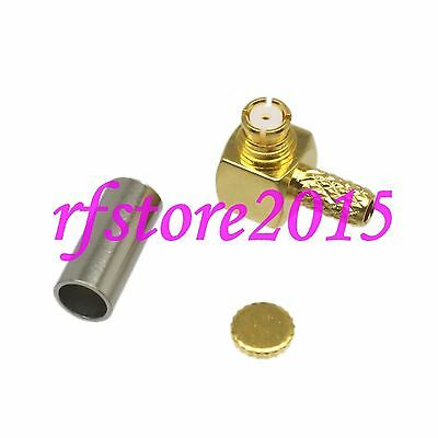 1pce Connector SMP female microwave right angle crimp RG316 RG174 LMR100 cable