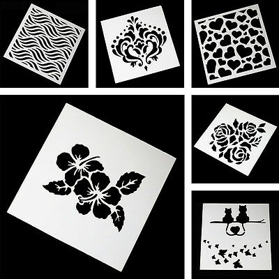 DIY Plastic Reusable Template Stencil Spray Painting Mold Wall Furniture Decor