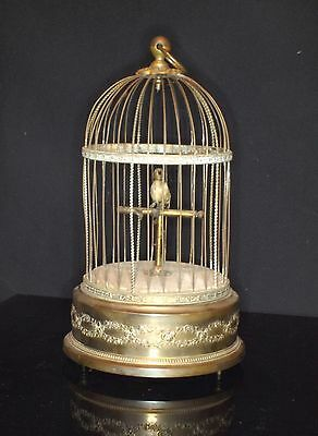 Antique Large French Mechanical Automation Singing Bird Music Box  ((Video))