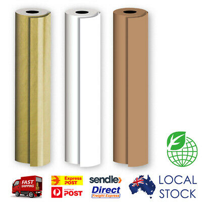 Gift Wrapping Paper 500mm x 50 m Brown Kraft / Gold / White Color Bulk Roll