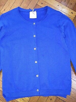 Zara girls size 5-6 royal blue button down cotton cardigan EUC