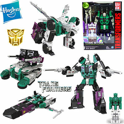 Transformers Titans Return Six Shot and Decepticon Revolver 6 modes Robot Toy