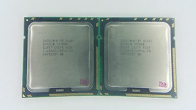 Matched pair of Intel Xeon X5687 3.6GHz Quad-Core SLBVY Processor w/Grease