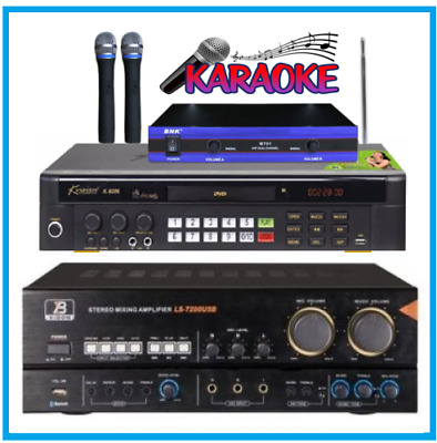 New Karaoke 20000 Songs MiDi DVD Player + VHF Microphone + 120w Bluetooth Amp