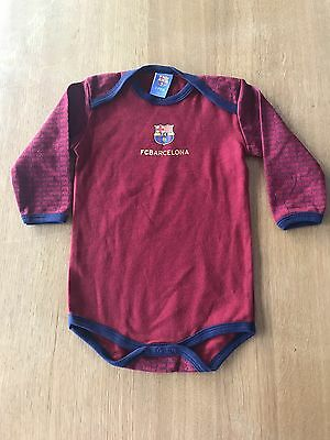Official Licensed Product FC Barcelona 12 / 18 Months Long Sleeve Bodysuit New