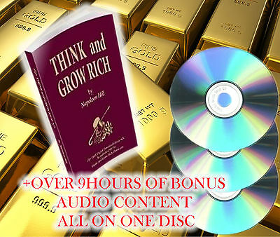 THINK AND GROW RICH Original Edition on disc & BONUS 9+ Hrs Audio Book File