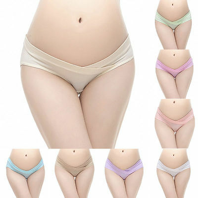 Pregnant woman Seamless Briefs Knickers Maternity Under Bump Support Brief Panty