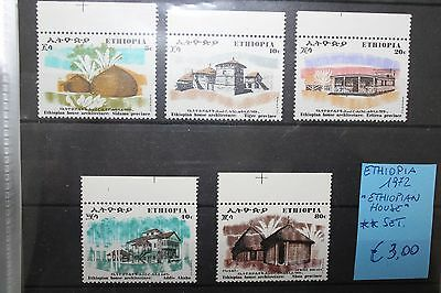 "Ethiopia 1972 ""ethiopian House"" Mnh** Set (Cat.9)"