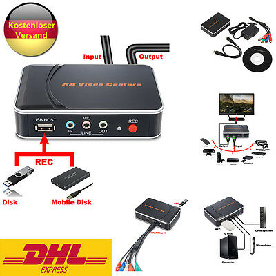 Supremery Game Capture Recorder HD Videoaufnahme 1080P HDMI/YPbPr Rekorder VF