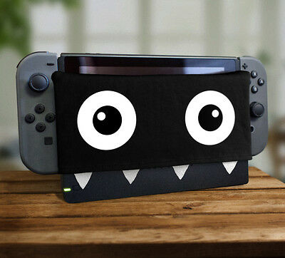 Retro Chomp Teeth Dock Sock Soft Plush Screen Protector Cover Video Game Monster
