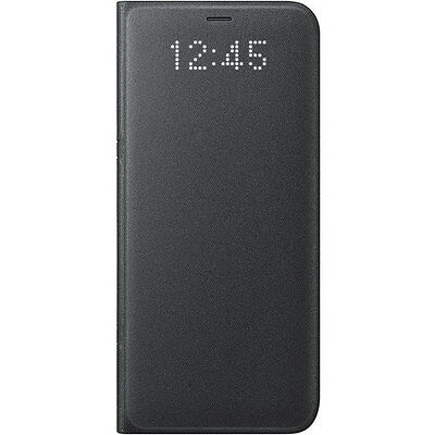 Genuine Official Genuine Official Samsung Galaxy S8 Leather LED Flip Case Black