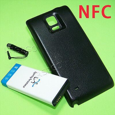 11900mAh Extended NFC Battery Thick Cover Styli For Samsung Galaxy Note 4 Sprint