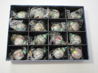 Lena Liu Ornaments Bradford Exchange Nature's Poetry Set of 16  - EUC/COA/Box