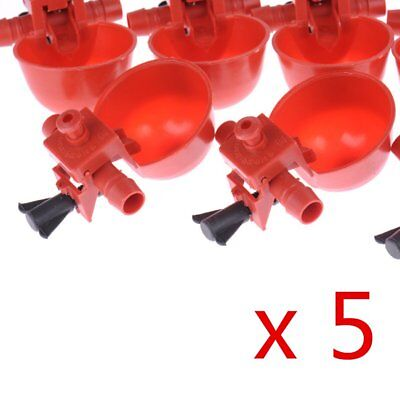 5X Chicken Poultry Automatic Water Drinking Nipple Feeder Cups Drinker