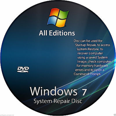 Windows 7 all in one 32/64 bit Repair Re-install, Recovery,Bootable DVD  Windows