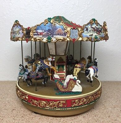 Mr. Christmas Vintage Holiday Around the Carousel Lights Songs ** AS IS