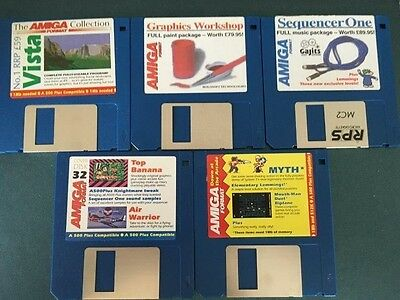 Commodore Amiga software disks various games and utilities #19