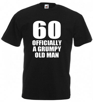 60 OFFICIALLY A GRUMPY OLD MAN t-shirt size S-XXL 60 birthday gift