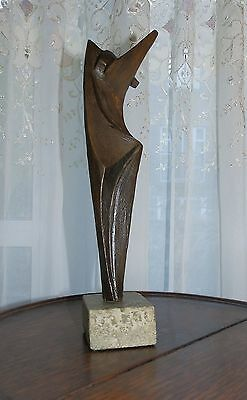 Cubist / Modernist Sculpture : A good nude bronze Figure C.Mid Century
