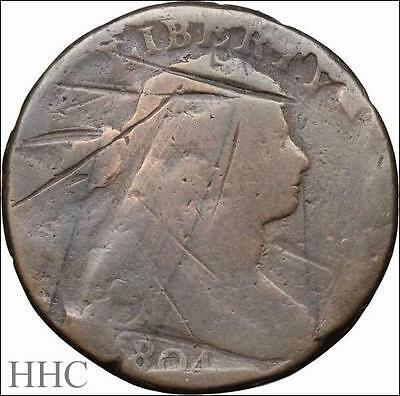 Draped Bust Large Cent, 1804, THE KEY! S.266 STATE C R.2 (SKU #F262)