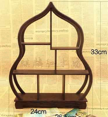 China Collection Wood Curve Shelf For Vase Snuff Bottle Wooden Shelves Cq50174