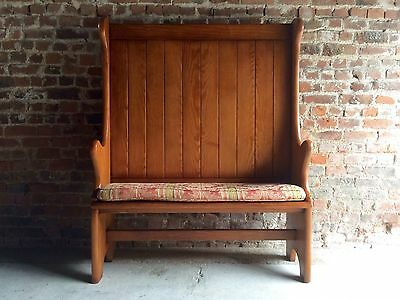 Magnificent Oak Settle Original Handmade Bench Pew