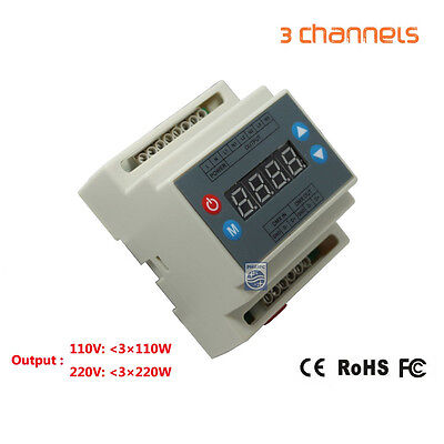 DMX triac dimmer led brightness controller 3channels 1A/CH for led panel light