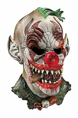 Mask Clown Halloween Costume Scary Adult Horror Face Accessory Latex Cosplay