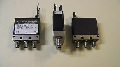 """Good used Relcom SPDT/form """"C"""" SMA coaxial failsafe switch DC-18GHz 200 watts!"""