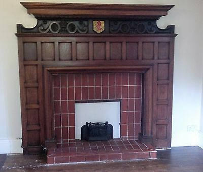 Antique Original fireplace surround, Oak