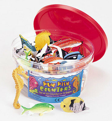 Learning Resources Fun Fish Counters Set of 60 – NEW