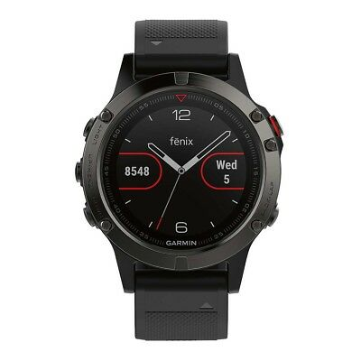 NEW Garmin Fenix 5 GPS Heart Rate Watch Slate Grey/Black from Rebel Sport