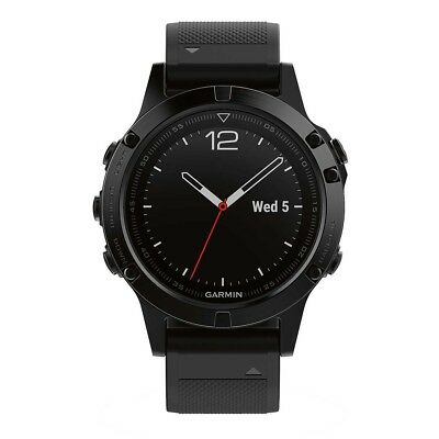 NEW Garmin Fenix 5 Sapphire GPS Heart Rate Watch Black/Black from Rebel Sport