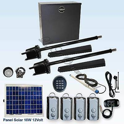 Apollo 1650 ETL Swing Gate Opener Kit 6 10 Watt Panel Solar Residential Operator