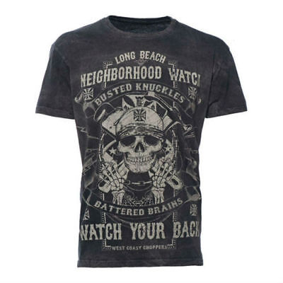 West Coast Choppers Neighborhood Watch T-Shirt - Black **100% Original Wcc**