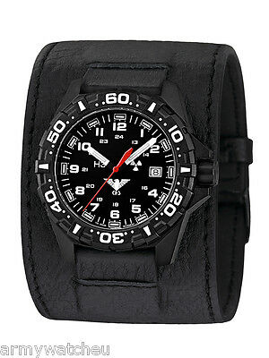 KHS Tactical Watches Red Reaper German Watch Trigalights© Leather Power Band