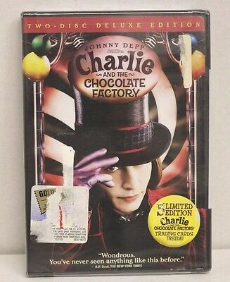 Charlie and the Chocolate Factory NEW 2-DVD Set WS Deluxe Edition Johnny Depp