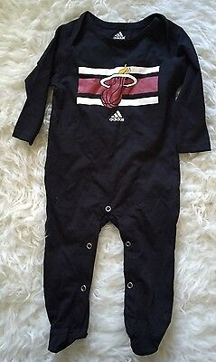 Adidas One Piece MIAMI HEAT Black Outfit Baby Outfit 6 9 months Girls Boys
