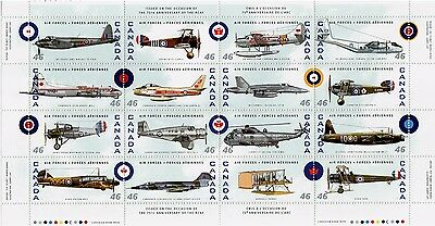 Air Force 1999 #1808  Souvenir sheet Canada mint