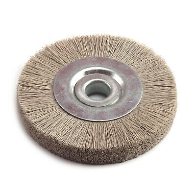 105mm Dia Abrasive Nylon Wheel Brush Dupont silk Wheel Polish Bench Grinder 600#