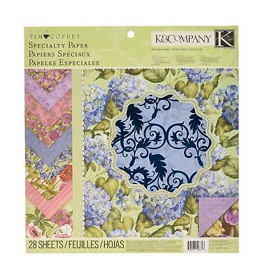 K&Company Tim Coffey Cottage Garden Specialty Paper Pad 12-by-12-Inch NO TAX