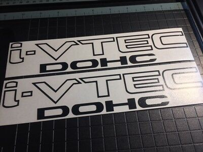 Two (2) Honda i-vtec DOHC Decal Replacement Stickers Acura VTEC Civic Si K20 RSX
