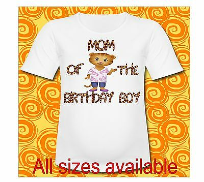 Daniel Tiger Mom of the Birthday Boy T Shirt Pick All Sizes or Sayings Mom