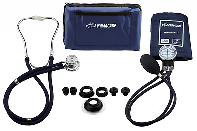 Primacare Medical Supplies DS-9181 Blue Professional Blood Pressure Kit with Spr