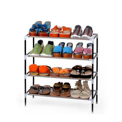 2 Tier Shoe Storage Rack Stand Organiser Cabinet Shelf Easy Assemble for 6 Pairs