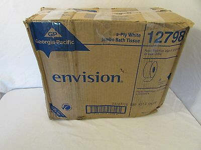 GEORGIA-PACIFIC 12798 Toilet Paper, Envision, Jumbo, 2Ply, Case of 8 Rolls