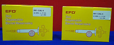 Qty 2 Packages Of Efd 5109Ll-B 3Cc Disposable Barrel Reservoirs